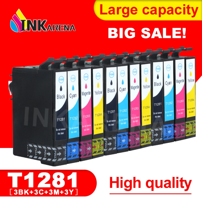 3 Set para Epson T1281 Compatible cartucho de tinta para Epson Stylus S22 SX125 SX130 SX230 SX235W SX420W SX425W SX430W SX435W impresora