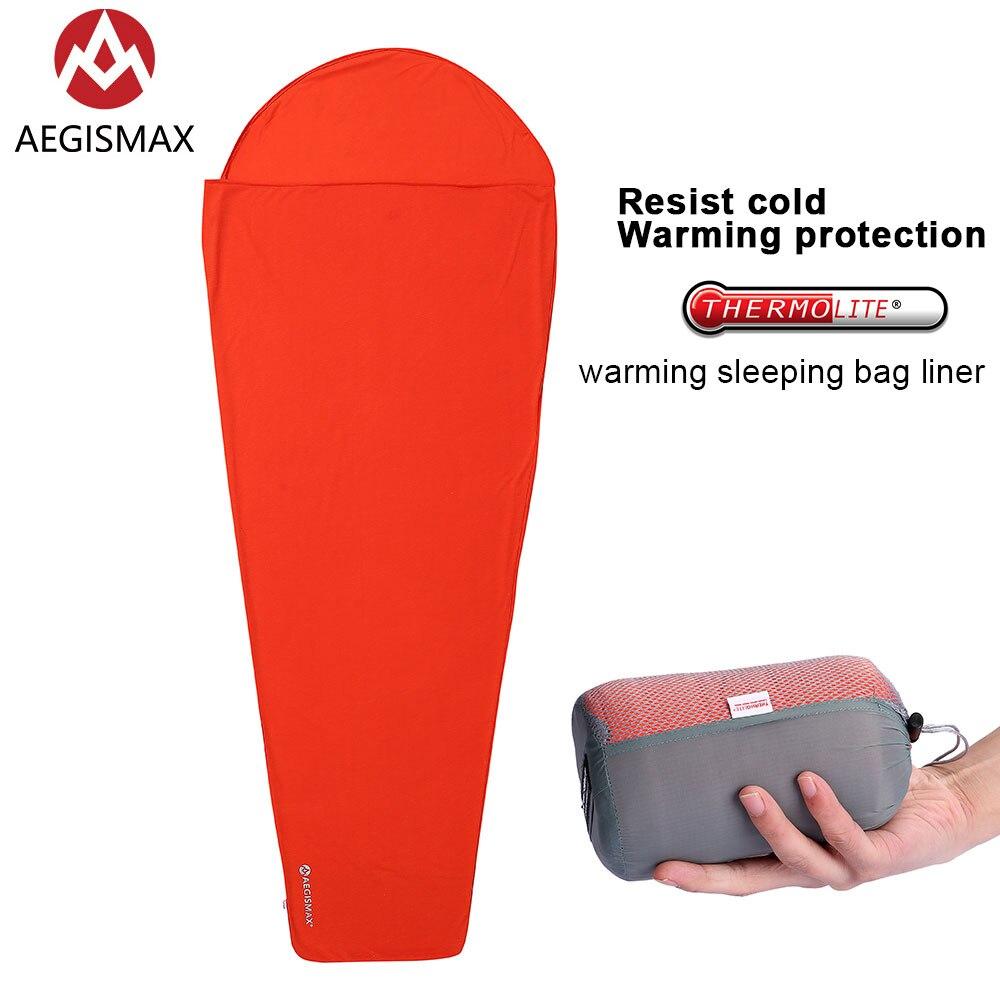 AEGISMAX Thermolite calentamiento 5/8 Celsius saco de dormir forro exterior Camping portátil cama individual sábana de dormir Bloqueo de temperatura