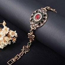 Unieke 2019 Etnische Bohemian Retro Gouden Armband Femme Mozaïek AAA Kristal Strass Braslet Afrikaanse Armband Bedels Accessoires