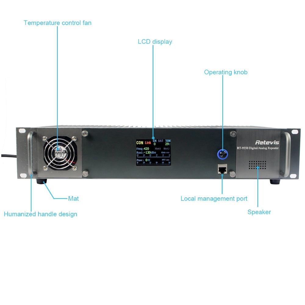 Retevis RT-9550 DMR Repeater 55W UHF Digital/Analog Mode TDMA 2 Time Slots A9116B enlarge