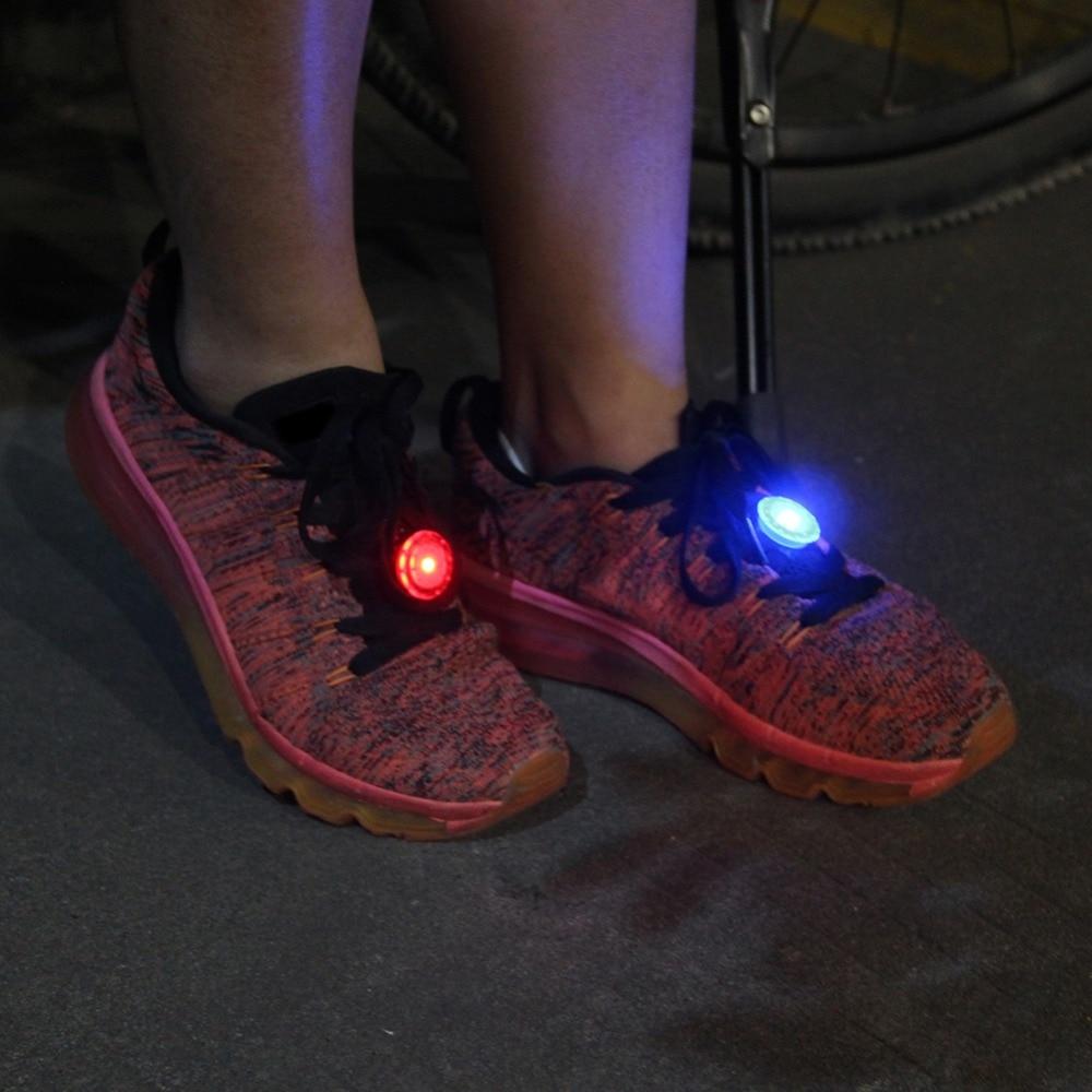 Deporte al aire libre ciclismo Led luz corriendo Mini intermitente LED corriendo antorcha zapatos de caminar por la noche lámpara de luz de advertencia de seguridad