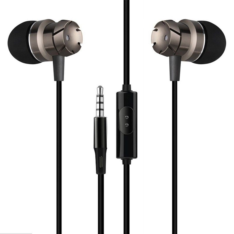 Fone de ouvido 3.5mm intra-auricular, fone de ouvido com microfone para xiaomi redmi 6 6 pro 6a bass estéreo metal hifi
