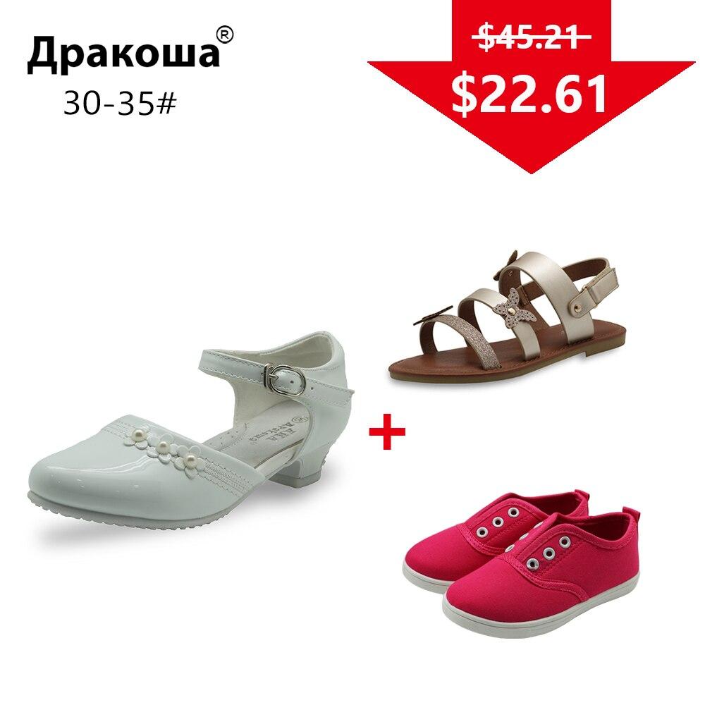 APAKOWA 3 أزواج الفتيات الصيف الصنادل الربيع الخريف عارضة أحذية الزفاف اللون أرسلت عشوائيا لحزمة واحدة الاتحاد الأوروبي حجم 30-35