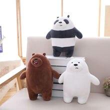 28 cm Plüsch Spielzeug Wir Bare Bears Stofftier Grizzly Grau Polar Bär Panda Plüsch Spielzeug Für Kinder & Fans geschenk Drop Schiff