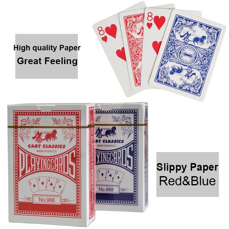 2 set/lote Texas Holdem de papel tarjeta de juego de poker cartas para juegos de mesa jugando a Poker tarjetas de papel regalo creativo póker duradero
