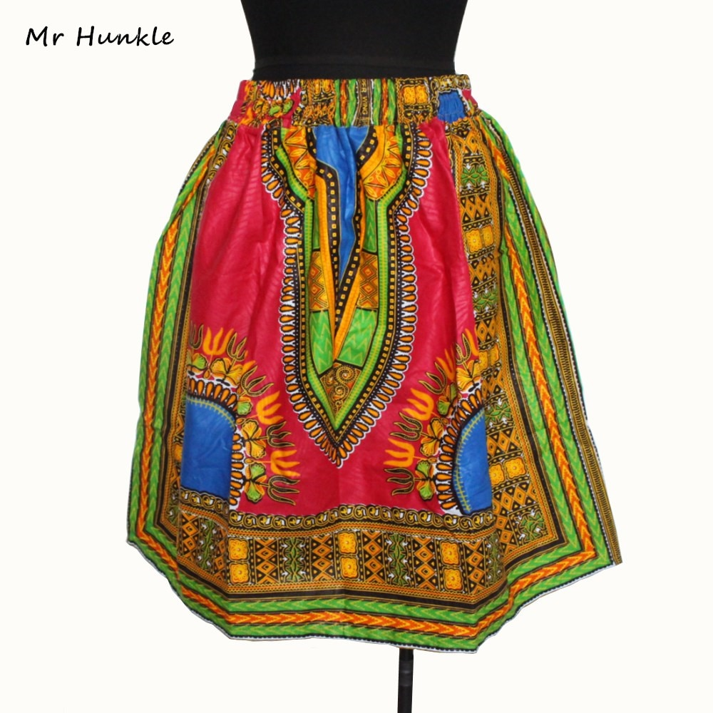 Sr. Hunkle mujeres Sexy Retro Tótem africano dashiki estampado faldas elegante slim tela Batik faldas Casual elegante mujer