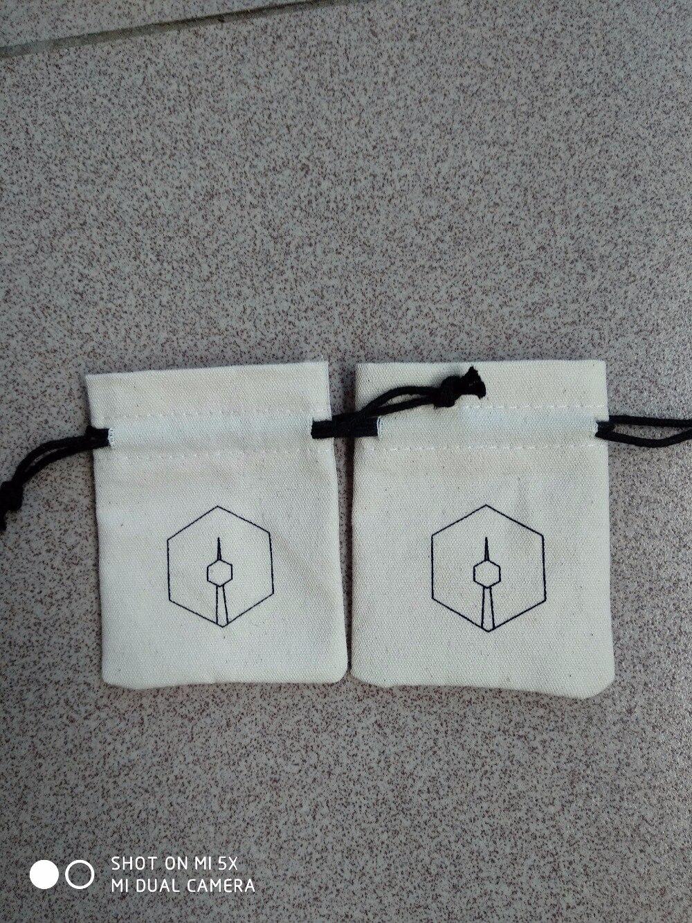 ¡Venta al por mayor! 250 Uds., bolsa de lona de alta calidad para joyería, bolsa con cordón pequeño de 7*9cm con logotipo personalizado y envío gratuito por ePacket