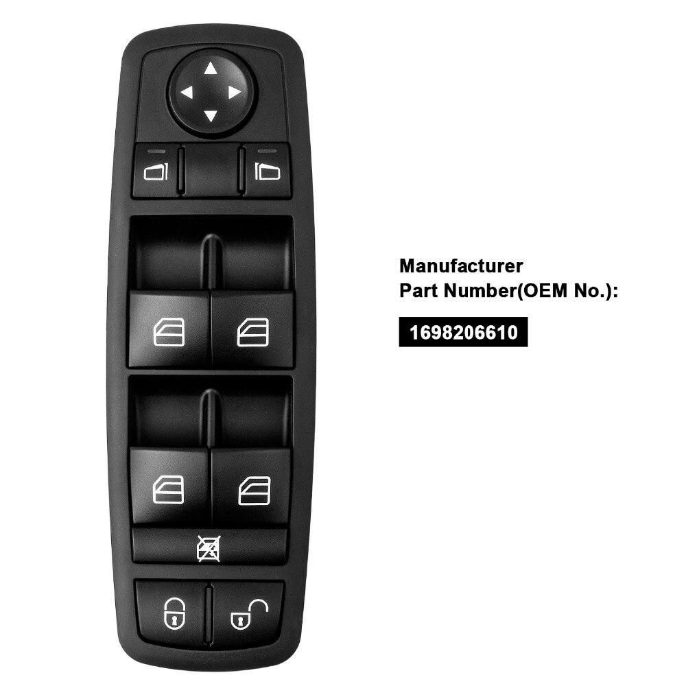 YAOPEI A1698206610 Motorista Frente de Esquerda Janela Mestre Chave Para Benz Classe A B W169 W245 2004-2012 1698206610