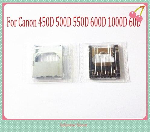 NEWSD Ranura para tarjeta de memoria soporte para CANON EOS 450D 500D 550D 600D 60D 1000D 1100D rebelde T3iT2I beso X4 pieza de reparación para cámara digital