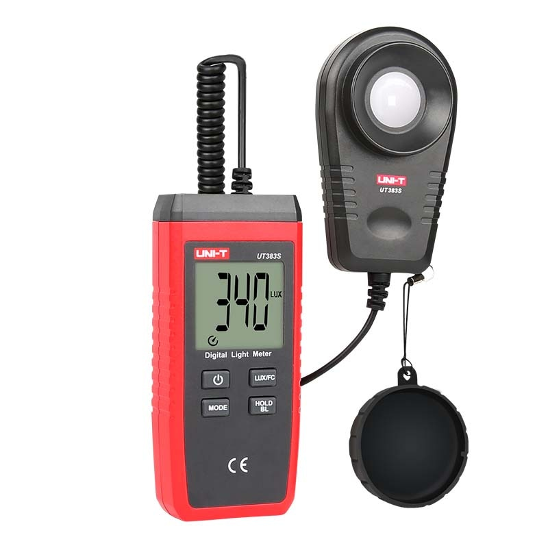 UNI-T ut383s medidor de luz digital lux/fc medidores luminômetro fotômetro 200,000 lux luminômetro medida tester