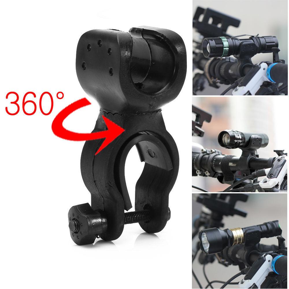 Многофункциональный держатель для переднего фонаря с креплением на 360 градусов, держатель для фонарика с противоскользящей резиновой прок...