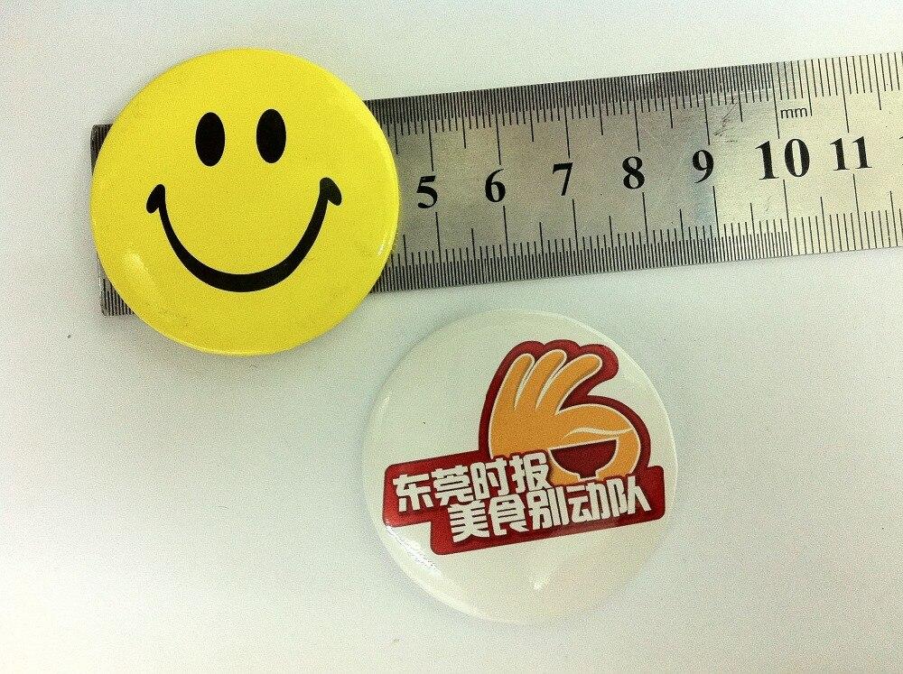 Pin insignia Pin de Metal insignia promocional promoción placa diámetro 4,5 cm imprimir logotipo personalizado envío gratis por Fedex