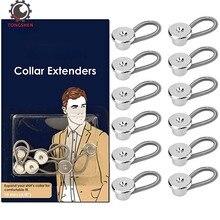 Extension de col en métal   15 pièces, 10mm prolongateur de col en métal bouton-demande pour lexpansion des chemises de robe et manteaux pantalons