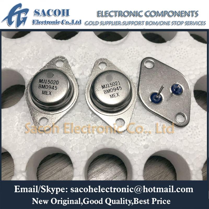 Frete grátis 2 pares mj15020 ou mj15020g + mj15021 ou mj15021g para-3 de silício transistor de potência
