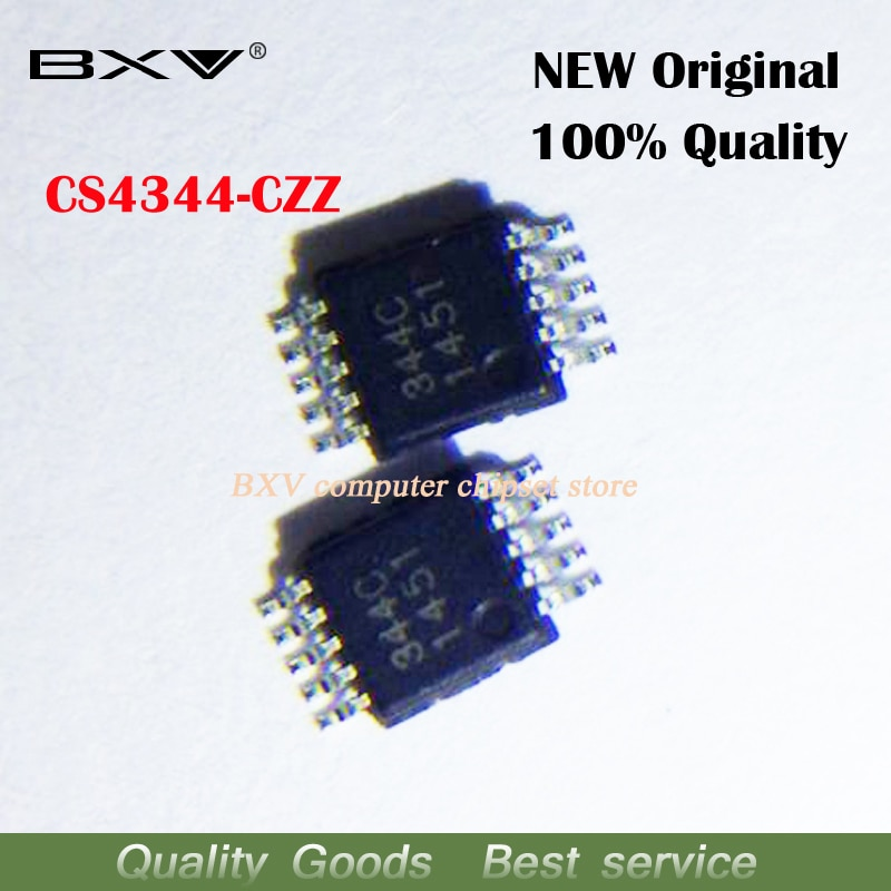 10 unids/lote CS4344 CS4344-CZZ 344C MSOP-10 DAC IC original nuevo