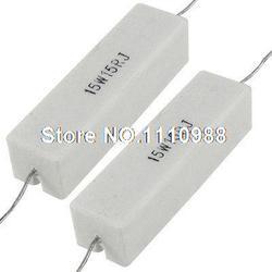 2x Axial Chumbo Cerâmica Cimento Power Resistor 15 Ohm 15 W 15R