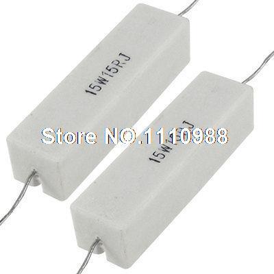 2x Axial Lead Ceramic Cement Power Resistor 15 Ohm 15W 15R