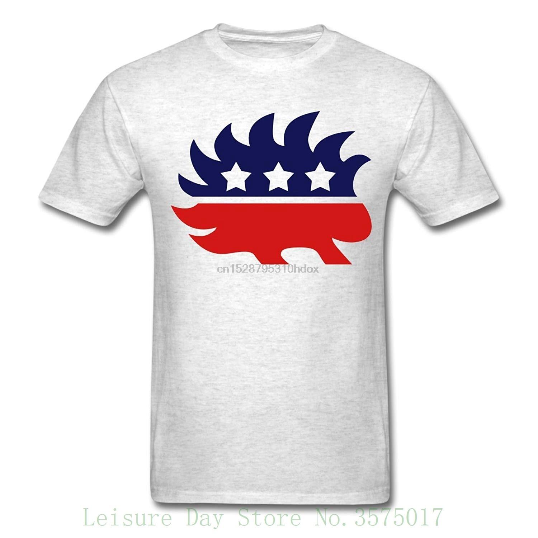 Libertarian Porcupine hombres camiseta hombres camisetas verano estilo moda Swag hombres camisetas