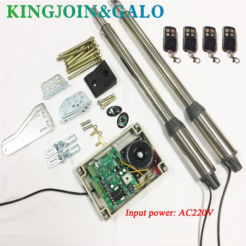 Swing gate opener/Linear Gate Openers/automatic swing gate motor with 4pcs remote control and 1 pair of photocell electric gates electric swing gate opener 400 kg swing gate motor with 2 remote control wit 1 pair of photocells 1 alarm light