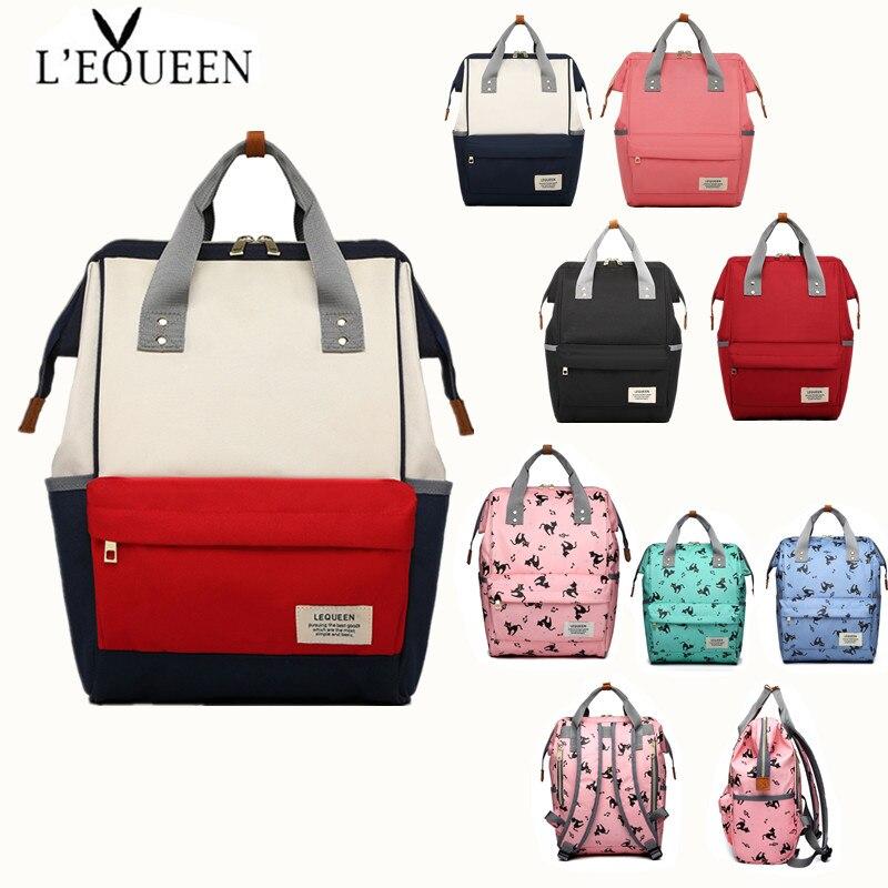 Bolsas de pañales de viaje, cochecito Lequeen, bolso de gran capacidad, impermeable, bolsa de pañales para recién nacidos, bolsa para cochecito, bolsas de bebé para mamá