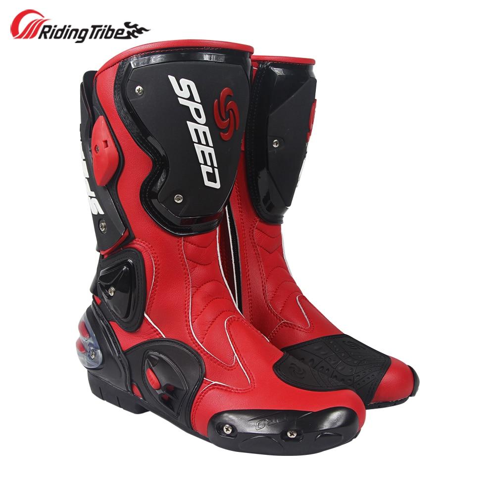 Riding Tribe-أحذية سباق الدراجات النارية للرجال ، أحذية طويلة ، حماية عالية للكاحل ، B1001
