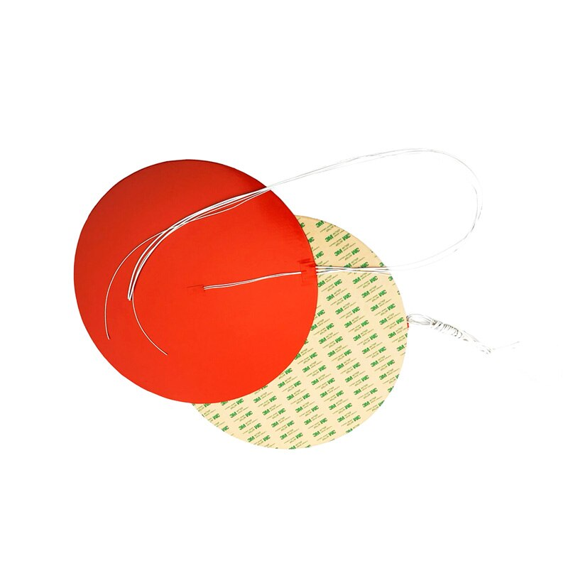 220 V diámetro 480*1,5mm 1000 W calentador de silicona redondo adhesivo 1 lado 100 k termistor Centro 1000mm alambre de plomo