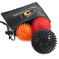 3 pcs fitness balls spiky massage ball set to relieve painimprove flexibilitymobility and circulation