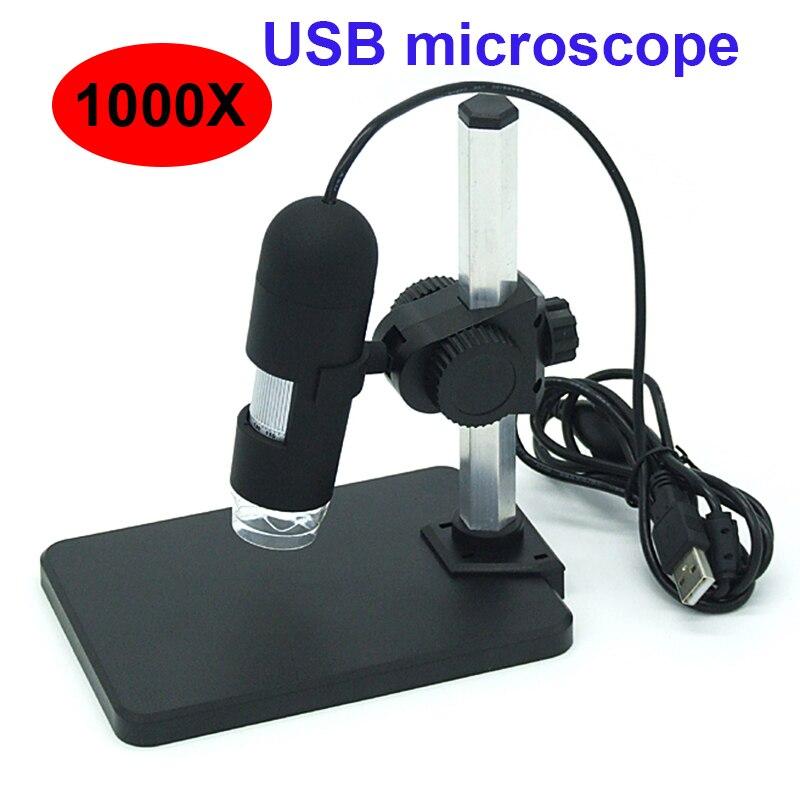 Цифровой микроскоп 1000X, USB микроскоп, лупа с 8 светодиодными лампами, 1000X микроскоп, лупа, видео камера