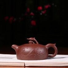 Słynnego artysty z Yixing fioletowy piasek Pot, dostosowuje wszystkie wykonane ręcznie delfin fioletowy piasek czajniczek podróży zestawy do herbaty i prezenty