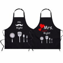 FORUDESIGNS tablier de cuisine pour Couples   Tablier de cuisine, m. Et mme, cadeau de cuisine amusant pour mariage, jeunes filles, amour teckel, 2 pièces/ensemble