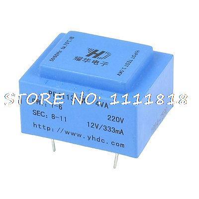 4VA 50/60Hz 12 V salida PCB montaje transformador encapsulado