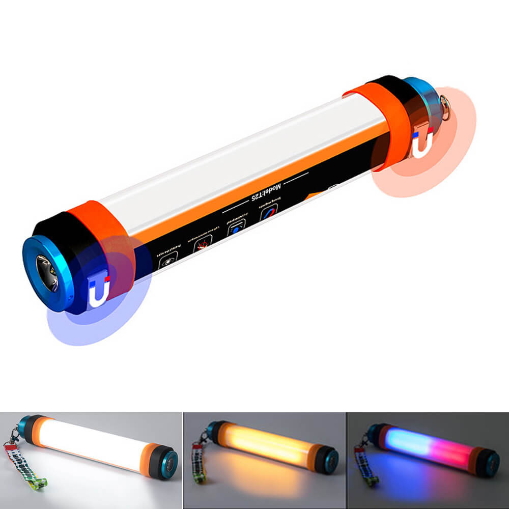 24cm 9in 3W étanche moustique tente lumière magnétique Portable lanterne Camping lumière lampe de poche Rechargeable randonnée voyage lampe