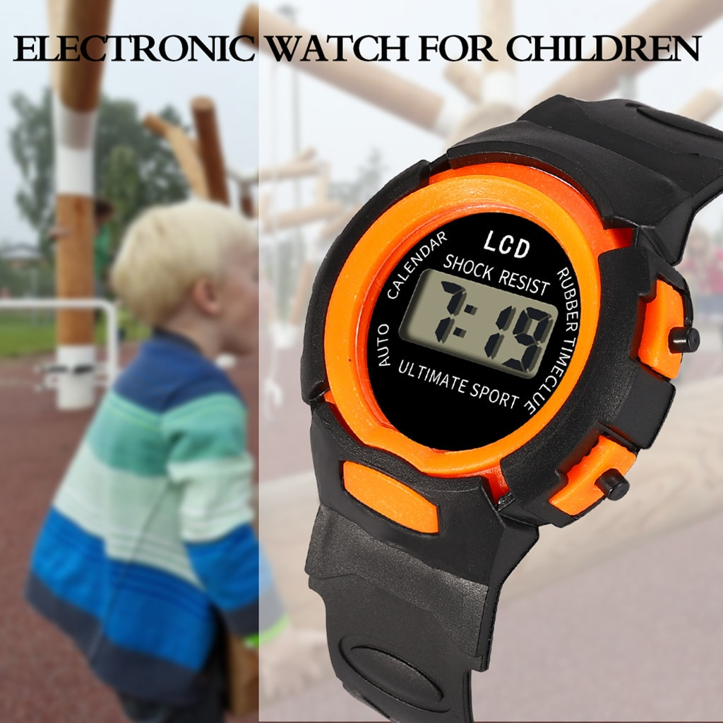 Digital Watch Children Girls Analog Digital Sports Watch LED Electronic Waterproof Wrist Watches New