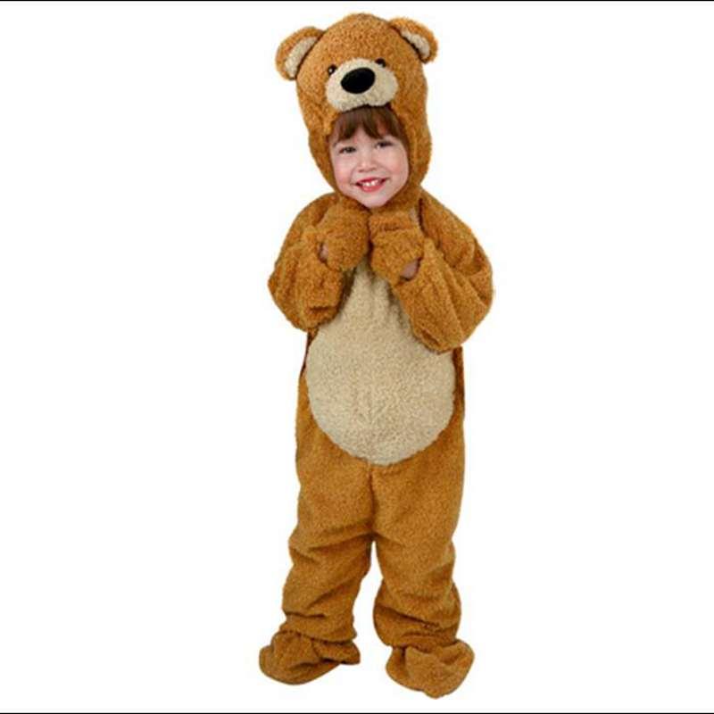 Oso de miel ropa de niños Linda Navidad Halloween Animal ropa de actuación de los niños