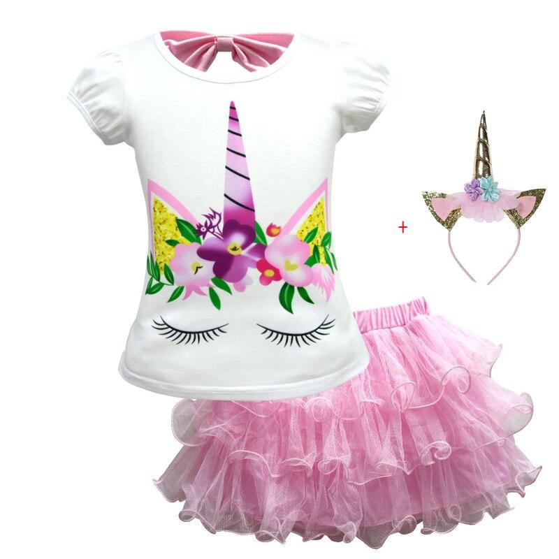 Einhorn Kleider 2019 Prinzessin Party kleid Kinder Einhorn Party Mädchen Kleid Elegante Kostüm Für Mädchen Sommer Kleider