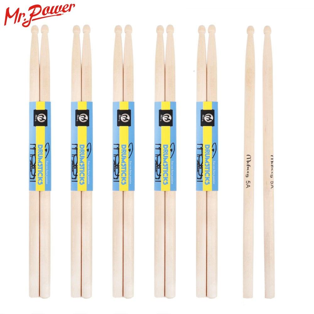 Барабанные палочки 5А Белая береза, дерево клен деревянные барабанные палочки электронная барабанная стойка барабанные палочки для ударны...