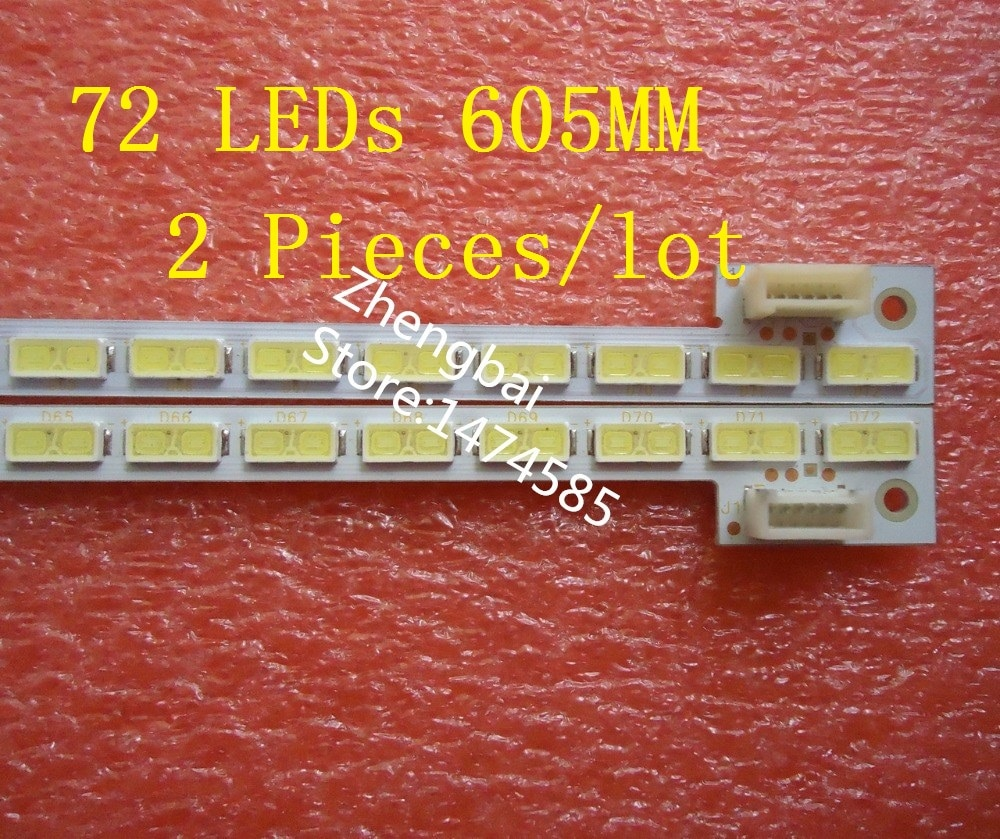 "2 piece/lot 55""T550HVD02.3 74.55T02.001-3-DX1 LED strip E117098 E150504 V341-201 V341-202 4H+V3416.021/B 72 LEDs 605MM"