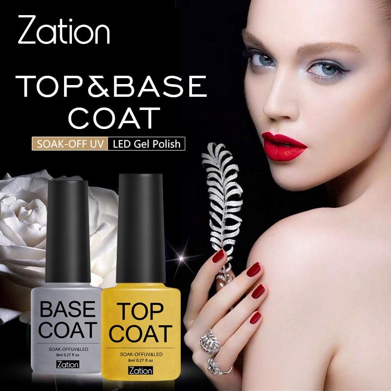 Zation Base Coat No Wipe Top Coat Nail Primer Enamel Nail Gel Matte UV Gel Top Coat UV LED Soak Off Nail Art Gel Varnish Lacquer