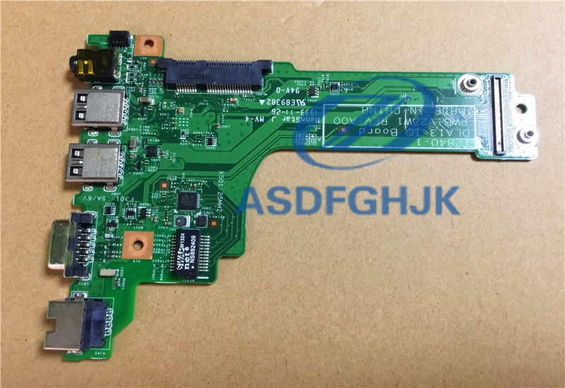 Original para Dell para la latitud E3330 Daughterboard de Audio USB LAN VGA 12840-1 DLA13 V28W1