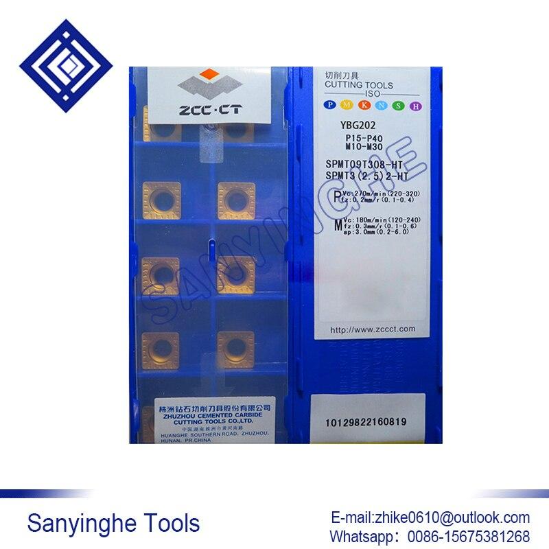 الشحن مجانا عالية الجودة 10 قطعة/السلع YBM251 SPMT09T308-HT cnc كربيد تحول إدراج
