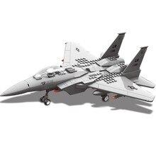 Juguetes Wange partículas grandes Jx005 militar F15 águila luchador 148 bloques de construcción de ladrillo Juguetes