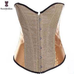 Wholesale Cheapest Price Corset Waist Trainer women bustier sequined Gothic Gorset Blink corselet Overbust Boned Korset Sexy