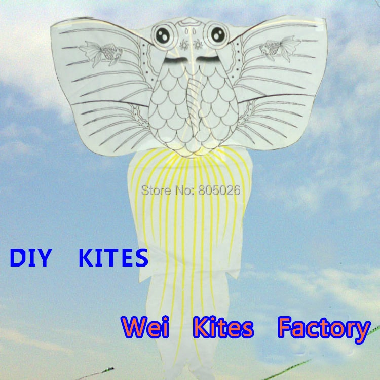 free shipping 20pcs/lot diy kite teaching fish kite children kite with handle line best price trainer kite hot air balloon