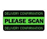 3000 pcs/lot 6x3cm DELIVERY CONFIRMATION PLEASE SCAN Self-adhesive label sticker,Item No.SL21