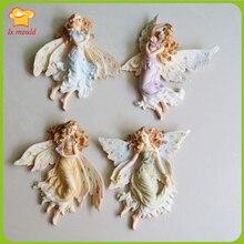 LXYY форма для выпечки DIY Ангел девочка шоколадная силиконовая форма DIY цветок фея сахар декоративная форма для торта