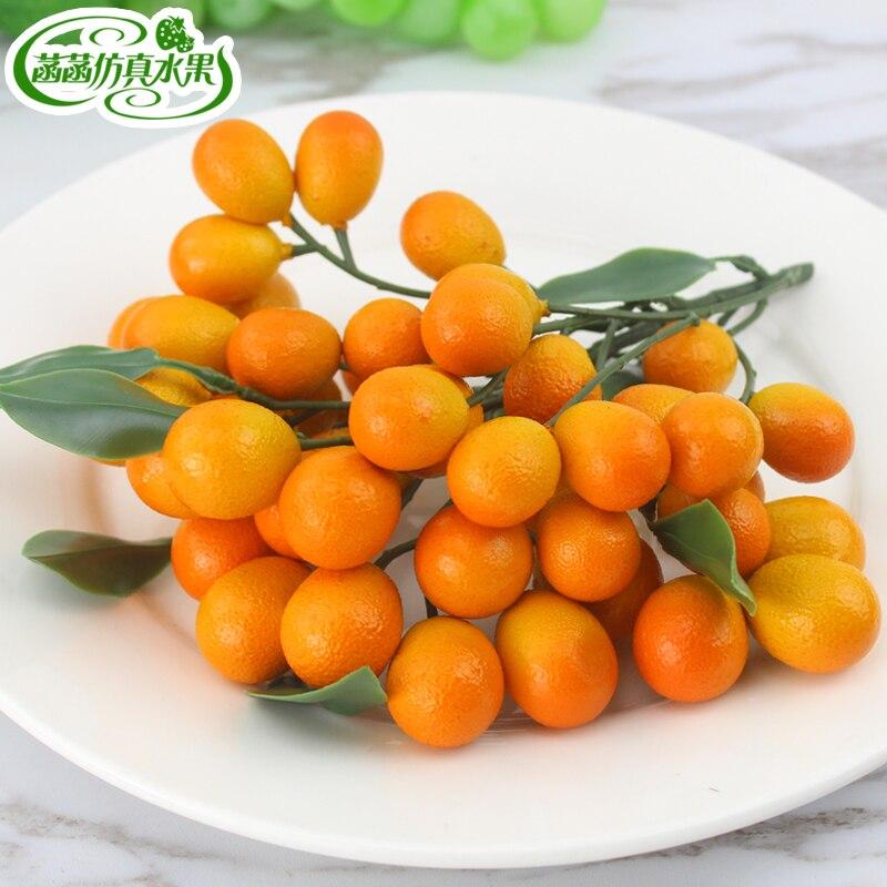 Pequena espuma fruta laranja ouro série de frutas decoração para casa 43 kumquat na decoração de casa