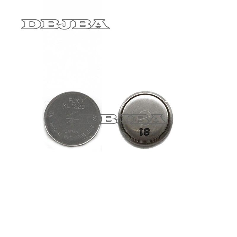 Nuevo 10 unids/lote pilas de botón recargables CMOS 3 V 12x2,0 MM 18 mah desnuda ML1220