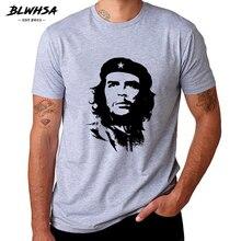 Blwhsa Che Guevara Hero Mannen T-shirt Hoge Kwaliteit Gedrukt 100% Katoen Met Korte Mouwen T-shirts Hipster Patroon Tee Cool Mannen kleding