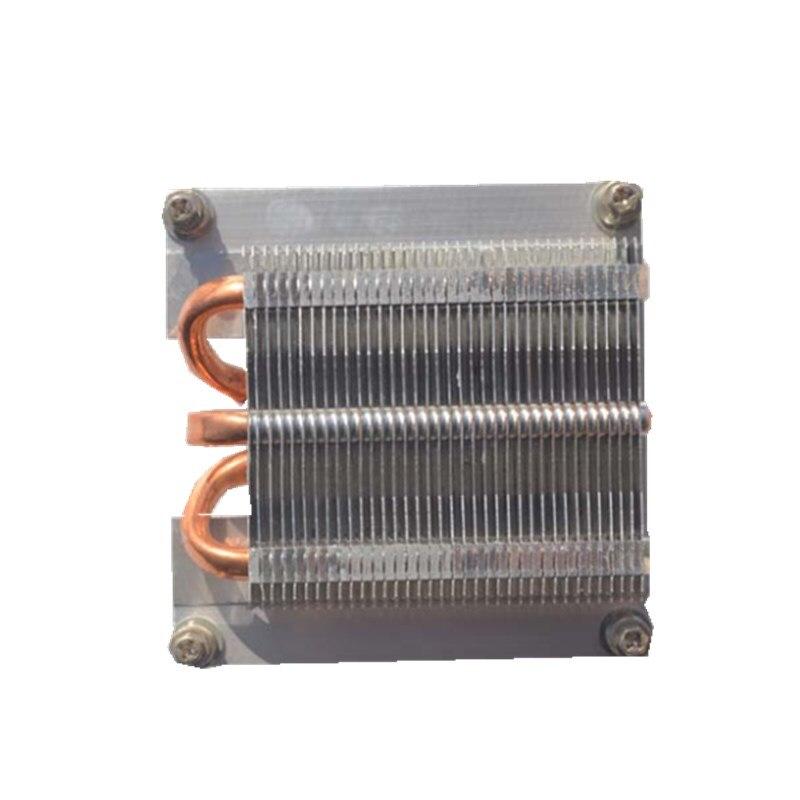 Disipador de calor 1U Intel, radiador de servidor de base de cobre puro 1U, tres tubos de cobre, Enfriador de CPU de 1366 Pines, disipador térmico pasivo X58