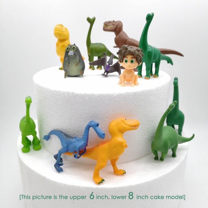 12 unids/set de tarta de dinosaurio, decoración de pastel de cumpleaños, fiesta de bienvenida de bebé, niño, dinosaurio, adorno para pasteles de fiesta, juguetes para niños, fiesta de la Selva